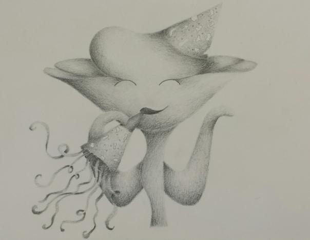 #11 birthday flower girl drawing